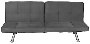 DHP Otis Upholstered Futon with Memory Foam, , large