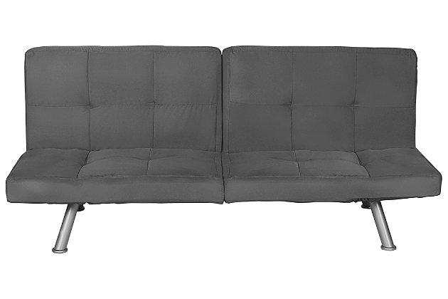 DHP Otis Upholstered Futon with Memory Foam, , large