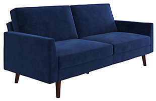 Atwater Living Joyce Coil Futon, Blue, large