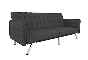 Atwater Living Elvia Convertible Futon and Sofa Sleeper, , large