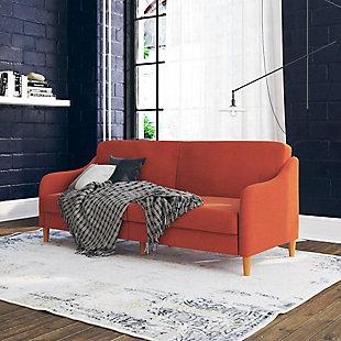 Atwater Living Jodi Coil Futon, Orange, rollover