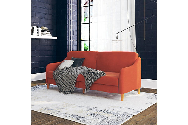 Atwater Living Jodi Coil Futon, Orange, large