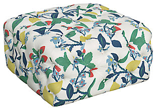 HomePop Large Square All-Over Tufted Ottoman, , large