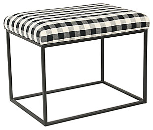HomePop Small Decorative Ottoman, , large