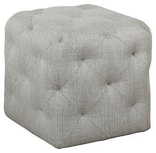 HomePop Small Pin-Tufted Ottoman, , large