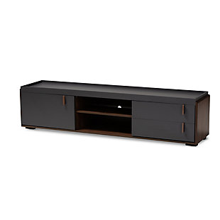 Baxton Studio Rikke Contemporary Two-Tone Gray 2-Drawer TV Stand, , large