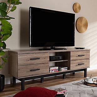 Baxton Studio Modern 4-Drawer TV Stand, , rollover
