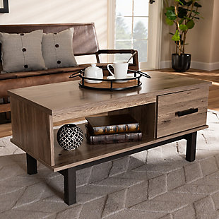 Baxton Studio Modern 1-Drawer Coffee Table, , rollover