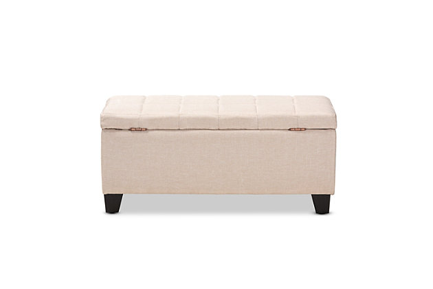 Baxton Studio Contemporary Upholstered Storage Ottoman Ashley Furniture Homestore