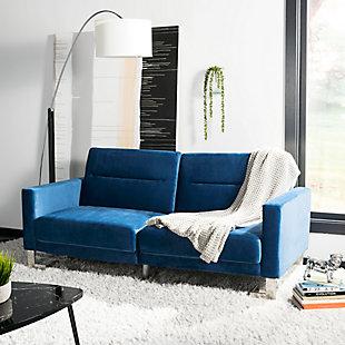 Safavieh Tribeca Foldable Sofa Bed, Blue, rollover