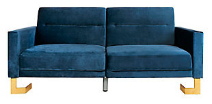 Safavieh Tribeca Foldable Sofa Bed, Blue, large