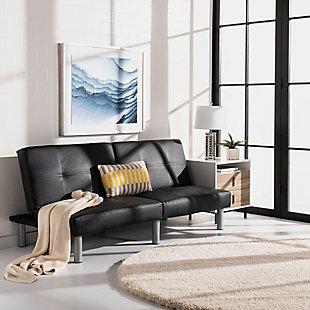 Safavieh Noho Foldable Futon Bed, Black, rollover