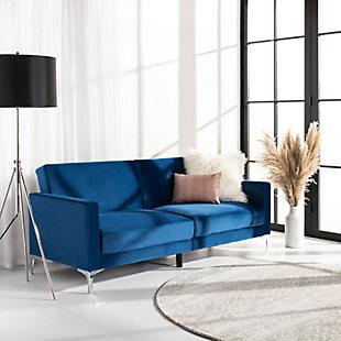 Safavieh Chelsea Foldable Futon Bed, Blue, rollover