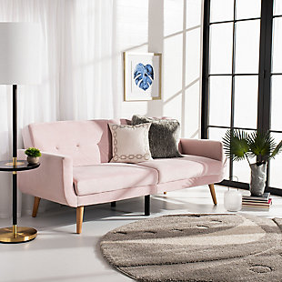 Safavieh Bushwick Foldable Futon Bed, Pink, rollover