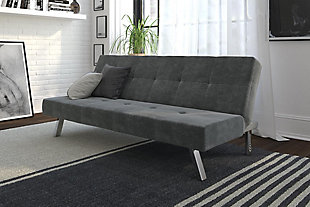 Atwater Living Atwater Living Zoey Gray Microfiber Futon, , rollover