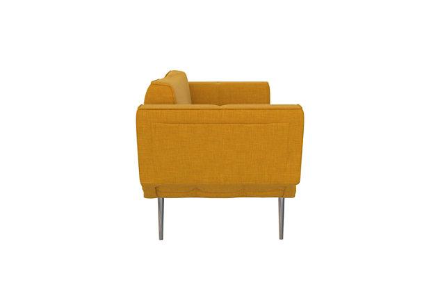 Atwater Living Atwater Living Ocie Yellow Linen Futon with Magazine Storage Mustard, Mustard Yellow, large