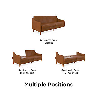 DHP DHP Jasper Coil Futon Convertible Sofa & Couch Camel Faux Leather, , large