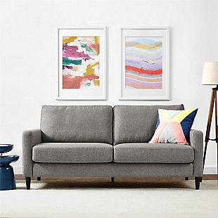 Atwater Living Atwater Living Regency Contemporary Gray Linen Sofa, , rollover
