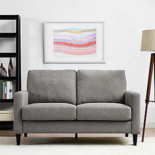 Atwater Living Atwater Living Regency Gray Linen Sofa Loveseat, , rollover