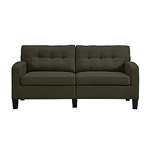 Atwater Living Atwater Living Sherri Modern Gray Linen Sofa Couch, Gray, large