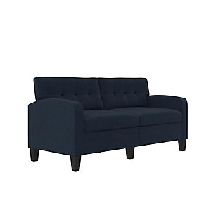 Dorel Living Dorel Living Marshall Blue Linen Sofa Couch Modern Living Room Furniture, , large