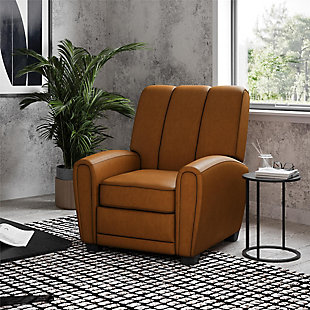 Atwater Living Vertical Pushback Recliner, Camel, rollover