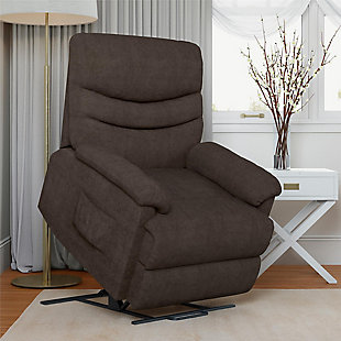 Dorel Living Sanders Power Lift Recliner, Brown, rollover