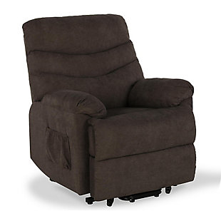 Dorel Living Sanders Power Lift Recliner, Brown, large