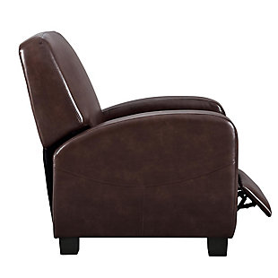Atwater Living Faux Leather Home Theater Chair Recliner, Brown, large