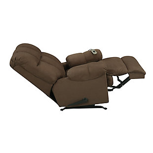 Dorel Living Padded Massage Chair Recliner, Chocolate, large