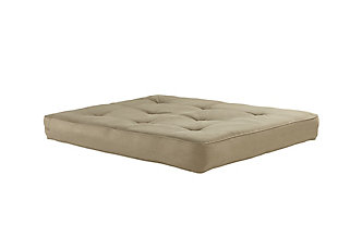 """Atwater Living 8""""Encased Coil Futon Mattress with CertiPUR-US® Certified Foam, Tan, large"""