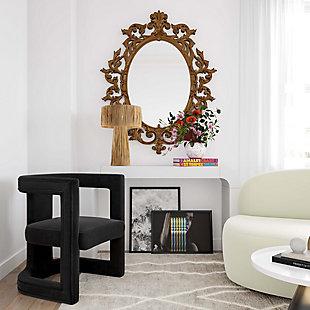 Ada  Velvet Chair, Dark Gray, rollover