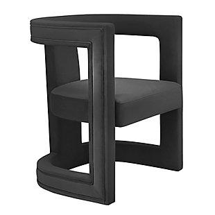 Ada  Velvet Chair, Dark Gray, large