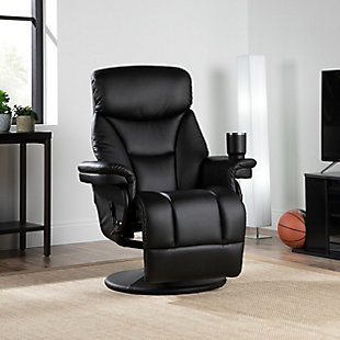 OFM Essentials Collection Home Entertainment Recliner, Black, rollover