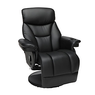 OFM Essentials Collection Home Entertainment Recliner, Black, large