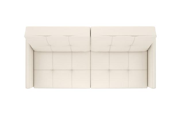 Andora Coil Futon, White, large