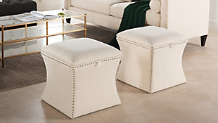 ACG Green Group, Inc. Concaved Storage Ottoman, , rollover
