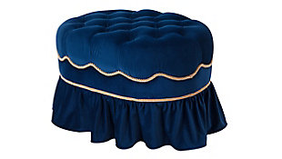 ACG Green Group, Inc. Tufted Decorative Oval Ottoman, , large