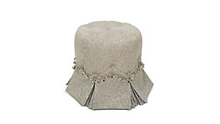 ACG Green Group, Inc. Tufted Round Vanity Stool Pleated Skirt, , large