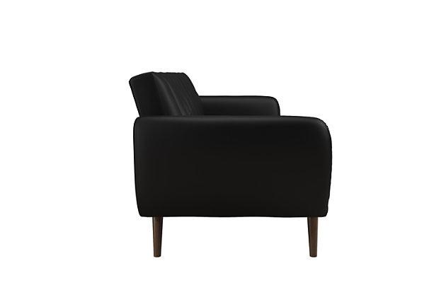 Novogratz  Brittany Faux Leather Futon, Black, large