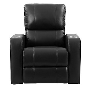 Tucson Gel Leather Recliner, Black, large