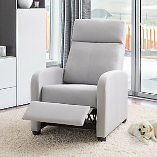 Lynwood Recliner Chair, Light Gray, rollover