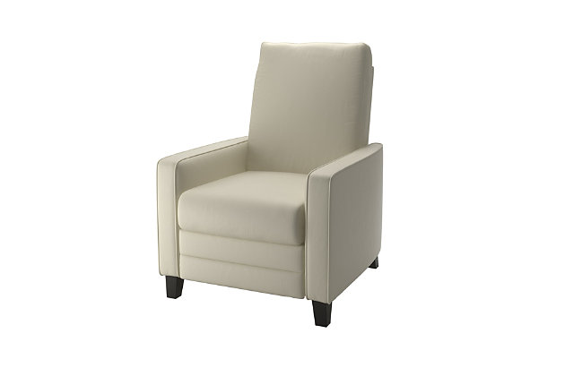 CorLiving Bonded Leather Recliner, White, large