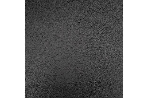 Kate Bonded Leather Recliner, Black, large