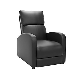 Moor Bonded Leather Recliner, Black, large