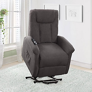 Arlington Power Lift and Rise Recliner, Gray, rollover