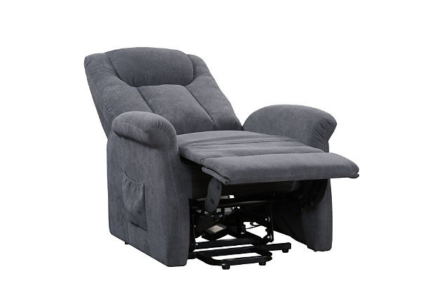 Arlington Power Lift and Rise Recliner, Blue, large