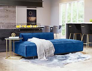 ZUO Confection Sofa, Blue, rollover