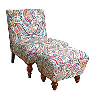 Benzara Accent Chair and Ottoman (Set of 2), , large