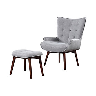 Benzara Accent Chair with Ottoman, , large